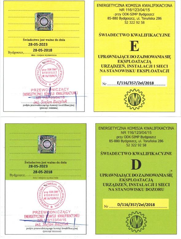 Uprawnienia SEP Ciechanów – dozór eksploatacja pomiary